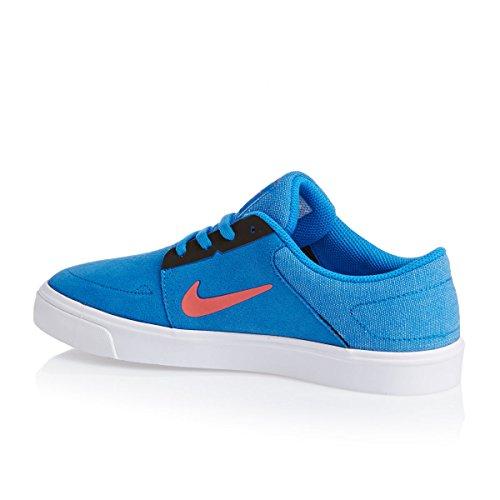 Nike - SB Portmore GS - 725108461 - Color: Blanco-Celeste-Naranja - Size: 35.5