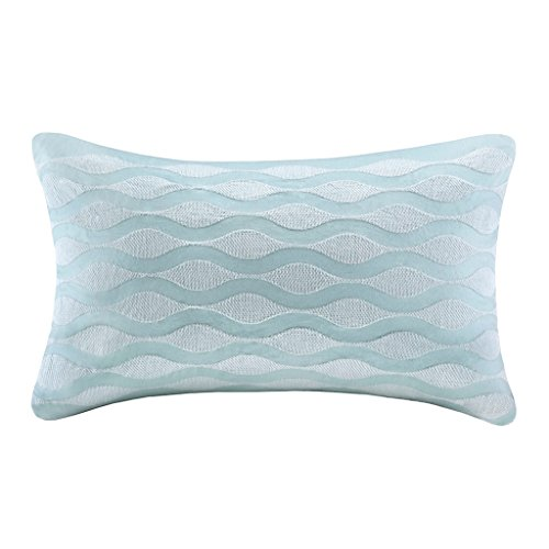 Harbor House Maya Bay Oblong Pillow, 12 by 20-Inch, Blue (Bay House)