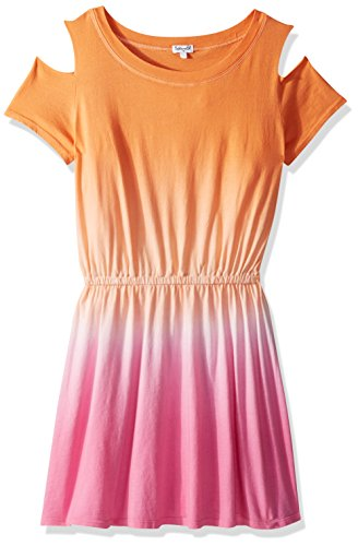 (Splendid Little Girls' Dip Dye Dress, Desert Flower 5/6)