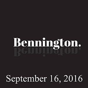 Bennington, September 16, 2016 Radio/TV Program