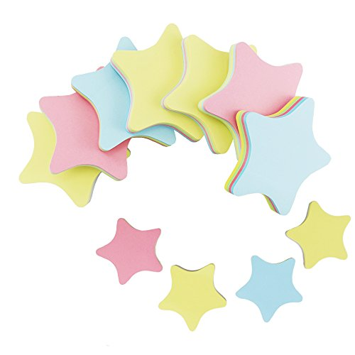 Star Sticky - PRALB 20PACK Rainbow Star-Shaped Self Sticky Notes Self-Adhesive Sticky Note Cute Notepads 100 Sheets per Pad.(20 Pack/Box, Star)
