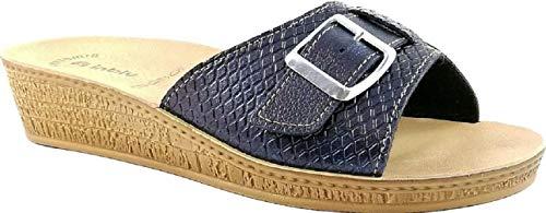Benessere Blu Fibbia Inblu Ciabatte Di Aperte Donna Linea Pantofole 65 Mod HvHq8U