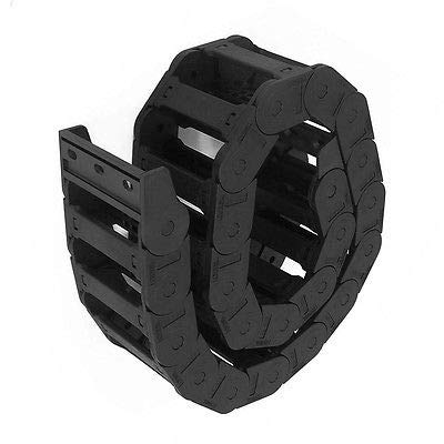 FidgetFidget Drag Chain Black Plastic Cable Carrier 25 x 77mm for CNC Router Mill