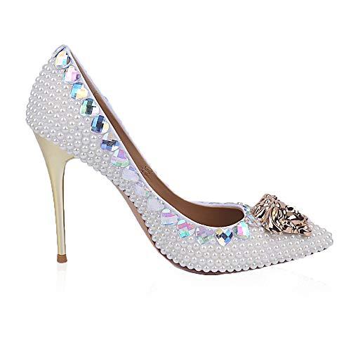 à à Bouts Talons White Pointus Femmes Pointus Chaussures pour wptPqAw
