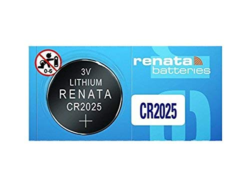 (Renata CR2025 Coin Cell Battery, 5 Batteries)