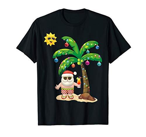 Summer Santa Claus Shirt Christmas Mele Kalikimaka Aloha -