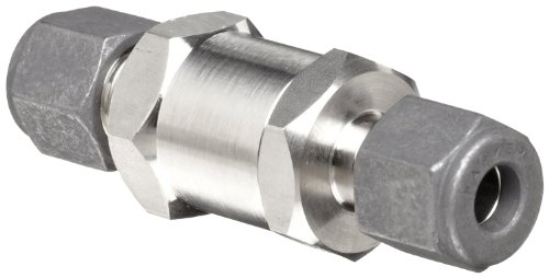 Parker F Series Stainless Steel 316 Instrumentation Filter, Inline, 5 Micron, 1'' CPI Compression Fitting by Parker