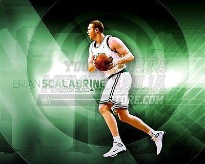 Brian Scalabrine Boston Celtics green target pass 8x10 11x14 16x20 photo 608 - Size - Target Boston Stores