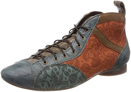 Think! Women's Guad_282288 Desert Boots, Red, 5 UK Blue (Agave/Kombi 65 Agave/Kombi 65)