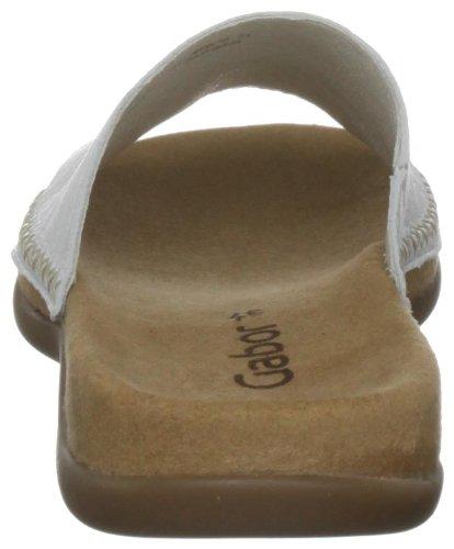 Gabor Shoes Gabor 4370521 - Zuecos de cuero para mujer Blanco