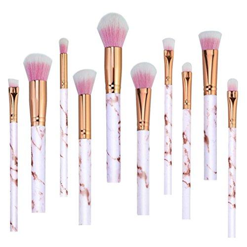 Flat Marbles Net - YJYdada 10 Pcs Marble Makeup Brush Set Eye Shadow Brush Cosmetics Blending Brush Tool