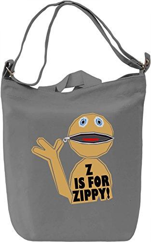 Z Is For Zippy Borsa Giornaliera Canvas Canvas Day Bag| 100% Premium Cotton Canvas| DTG Printing|