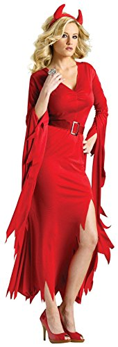 Fun World Gothic Devil, Red, Small/Medium 2-8 (Gothic Devil Costume)