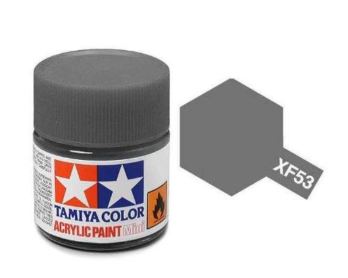 Tamiya 81753–Peinture Acrylique Mini, Mat Gris Neutre Flacon DE 10ML, XF-53