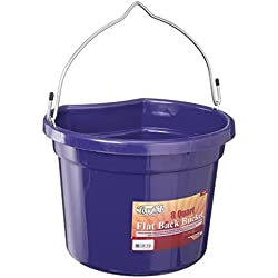 Tough 1 Flat Back Bucket, Purple, 8-Quart