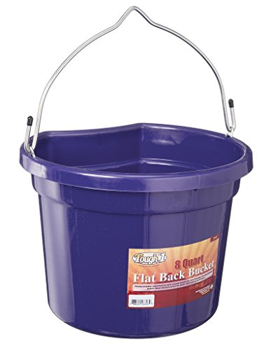 Tough 1 Flat Back Bucket, Purple, 8-Quart (Back Feeder)