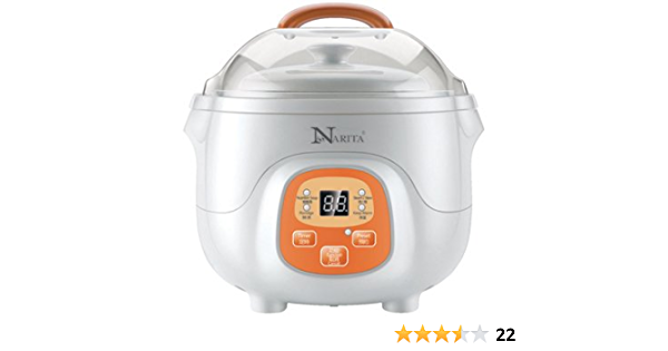 Narita Travel Mini Slow Cooker Digital Electric Stew Pot 0 7l By Hndtek Kitchen Dining