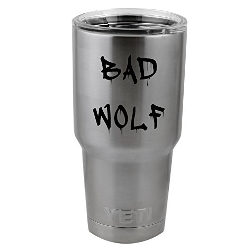 """Dripping Graffiti Dr Who Inspired Bad Wolf Vinyl Sticker Decal for Yeti Mug Cup Thermos Pint Glass (4"""" Wide - DECAL ONLY, NO CUP)"""