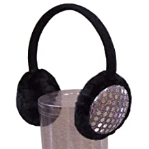 N'Ice Caps Girls Sequin Trimmed Adjustable Cold Weather Earmuffs