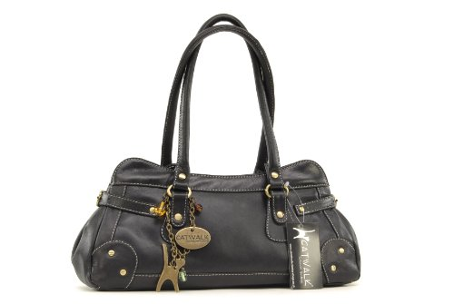 mano Cuero de COLLECTION ST Bolso CATWALK CARNABY Negro pnXYqwaHS