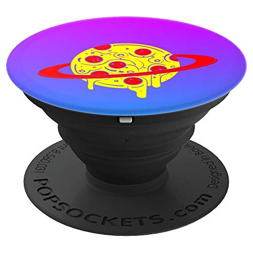 Yummy Pizza Saturn Ring Planet Melting Cheese - PopSockets Grip and Stand for...