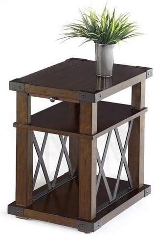 Progressive Furniture Landmark Chairside Table, Vintage Ash