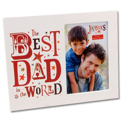 best dad in the world picture photo frame fathers day amazon co