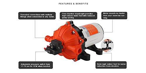 SeaFlo High Pressure Marine Water Pump 12 V DC 60 PSI 5.0 GPM on demand by Sea Fresh Marine (Image #5)