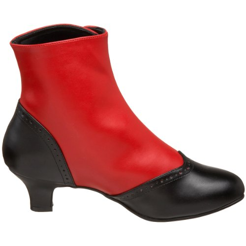 Bordello Women's Flora-1023 Boots Red (Red-blk Pu) clearance supply buy cheap discounts tumblr C6TYr