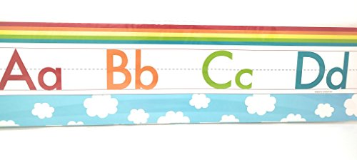 Teaching Tree Manuscript Alphabet Bulletin Back to School Board Set Creative Strips School Office Resources Scholastic Teacher Teacher's Bulletin Trim Wall Border Decal Classroom Decoration Set Z