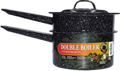 Granite Ware F6150-4 1.5 Quart Black Covered Double Boiler