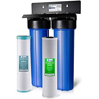 iSpring WGB22BM 2-Stage Whole House Water Filtration System w/ 20