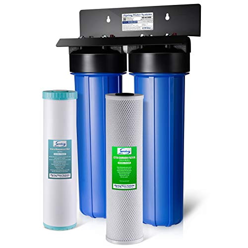 iSpring WGB22BM Iron Manganese Chloride Reducing 2-Stage 100,000 Gal. Big Blue Whole House Water Filter