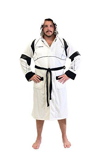 Star Wars Stormtrooper Fleece Costume Robe (One Size) White
