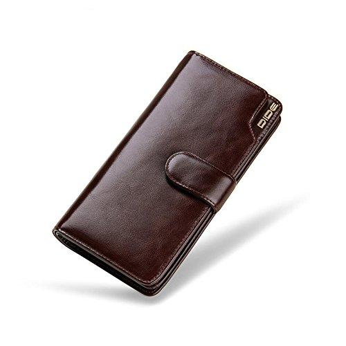 Change Brown High Multi WALLETS Oil Burglar Artificial Bit Quality Oil brown Business Color wax Purse Wax card Wallet Wrist Zipper Bag Bit Leather Honey Band Men's Yvxfn47vw