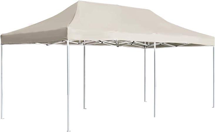 Tidyard Carpa Jardin Cenador Carpa Plegable Profesional de Aluminio Crema 6x3 m: Amazon.es: Hogar