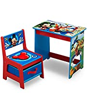 Disney Mickey and Minnie Mouse Kids Wood Desk and Chair Set