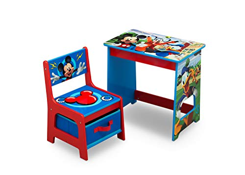 (Disney Mickey Mouse Kids Wood Desk and Chair Set by Delta Children)