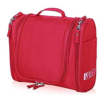 547ffd44d4 PETRICE Multifunctional Toiletry Large Makeup Waterproof Shower Wash Bag  Cosmetic Case Travel Kit Pack with Hook (Red)  Amazon.in  Beauty