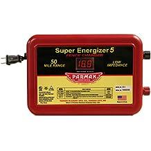 Parmak SE5 Super Energizer 4 Low Impedance 110/120 Volt 50 Mile Range Electric Fence Controller