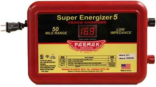 Parmak Super Energizer 5 Low Impedance 110/120 Volt 50 Mile Range Electric Fence Controller SE5 ()