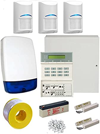 Scantronic 9651 EN41 Wired Intruder Alarm System LCD Keypad With 3 Bosch PIR/'s