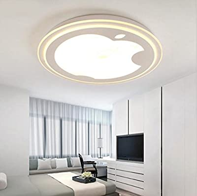 Jingzou LED creative simple fashion ultra-thin round Apple living room bedroom ceiling 407CM 18W