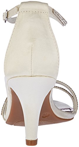Mujer Lips de 2 Tacón Eventful Vestir para satinado White Satin blanco Too Too pWqOOH8