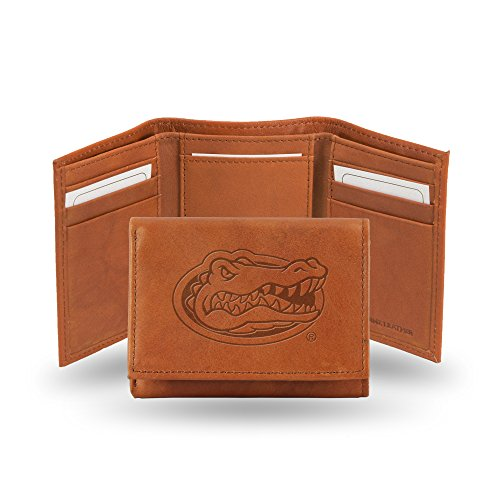 Rico Industries NCAA Florida Gators Embossed Leather Trifold Wallet, Tan from Rico Industries