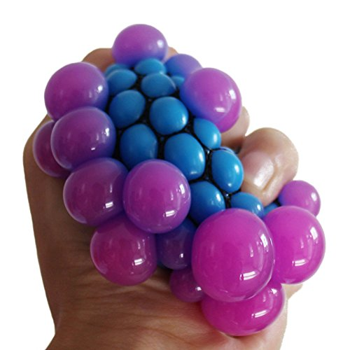 ZLTFashion Anti Stress Face Reliever Grape Ball Autism Mood Squeeze Relief Healthy Funny Tricky Toy Funny Geek Gadget Vent Toy (Face Stress Ball)