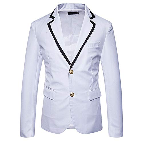 WEEN CHARM Mens Slim Fit Casual Blazer Jacket Two Button Lightweight Suit...