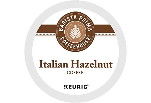 Flavor Italian Adds - Barista Prima Coffeehouse Italian Hazelnut Coffee K-Cup Pods (72 Count)