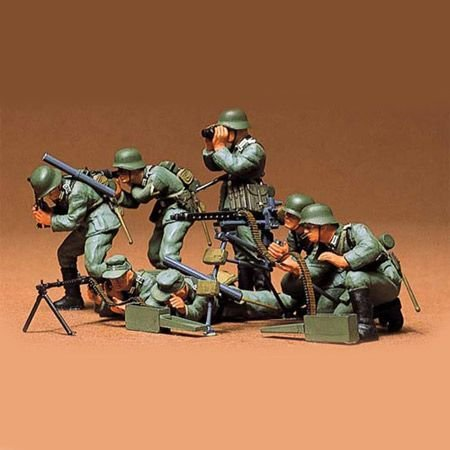 Tamiya America, Inc 1/35 German Machine Gun Troops, - Ww2 Guns Machine