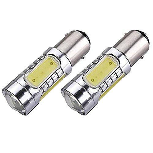signal lumieres - TOOGOO(R)2 X 1157-T25 BAY15D COB LED P21 / 5W signal lumieres Blanche Lumiere 070804